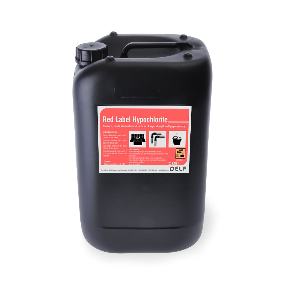 Red Label Hypochlorite 25 Litre