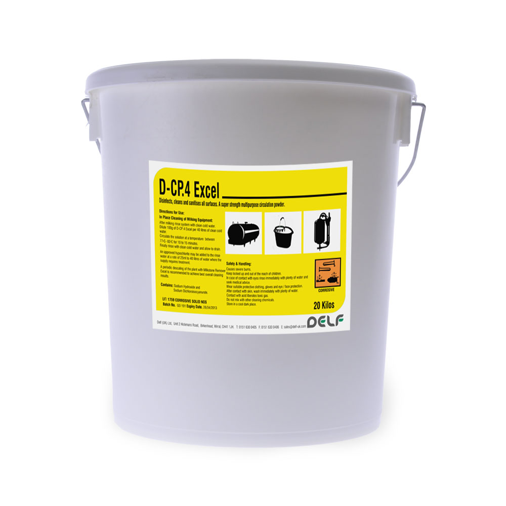 DAIRY HYGIENE - CIRCULATION CLEANERS - DCP4 20 Kilo