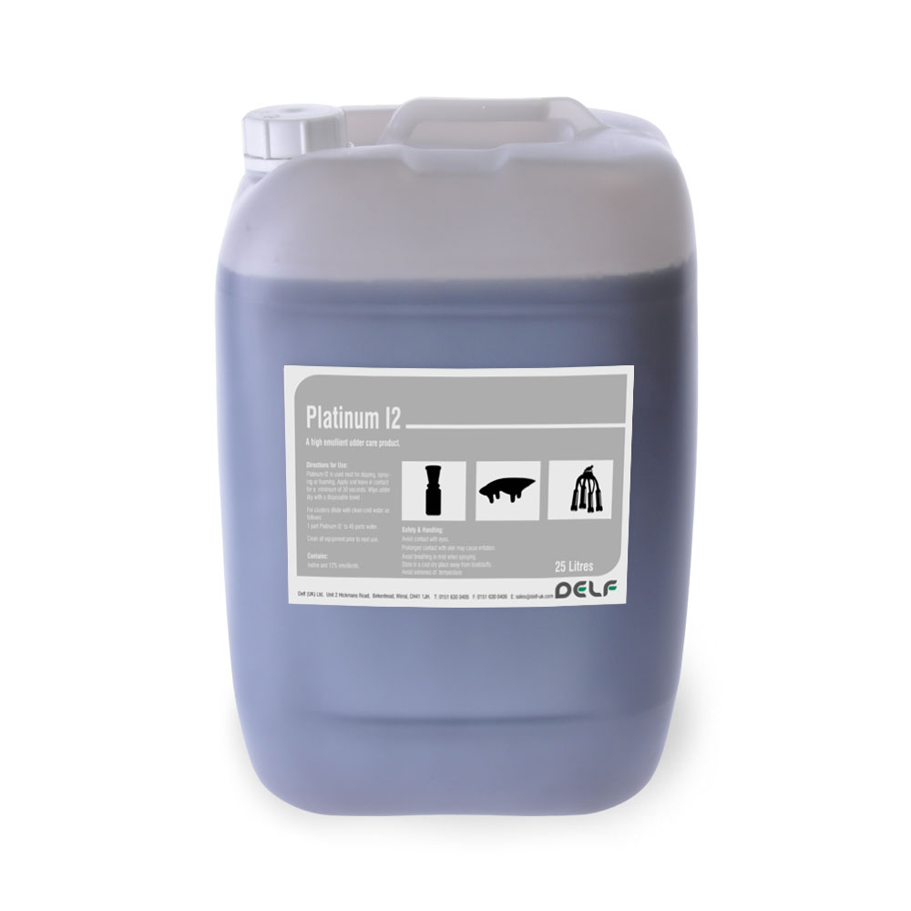 DAIRY HYGIENE - UDDER PREPARATIONS - Platinum I2 25 Litre